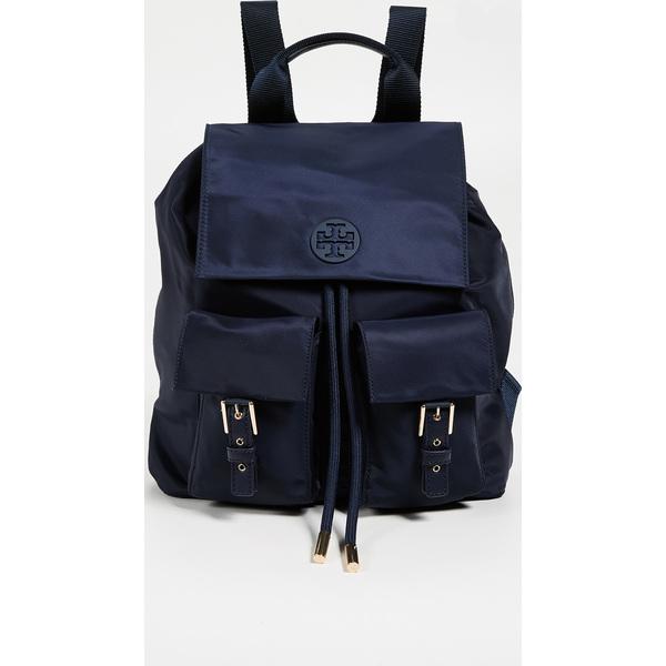 (取寄)トリーバーチ ティルダ ナイロン フラップ バックパック Tory Burch Tilda Nylon Flap Backpack ToryNavy