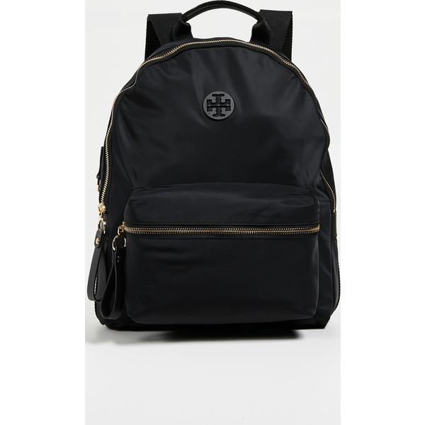 (取寄)トリーバーチ ティルダ ナイロン ジップ バックパック Tory Burch Tilda Nylon Zip Backpack Black