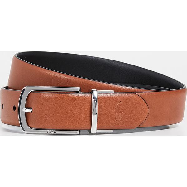 (取寄)ポロ ラルフローレン 30mm モダン ドレス リバーシブル ベルト Polo Ralph Lauren 30mm Modern Dress Reversible Belt Tan Black