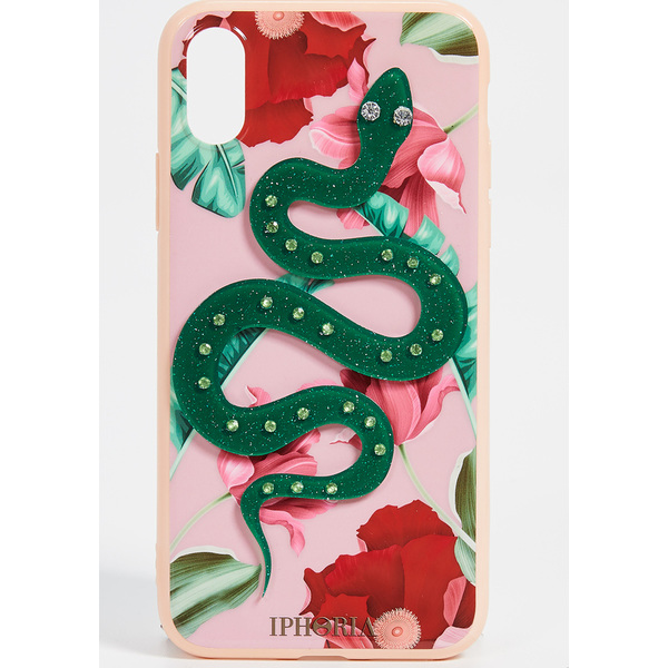 (取寄)アイフォリア ヌード フラワー スネーク アイフォン X ケース Iphoria Nude Flowers Snake iPhone X Case Nude