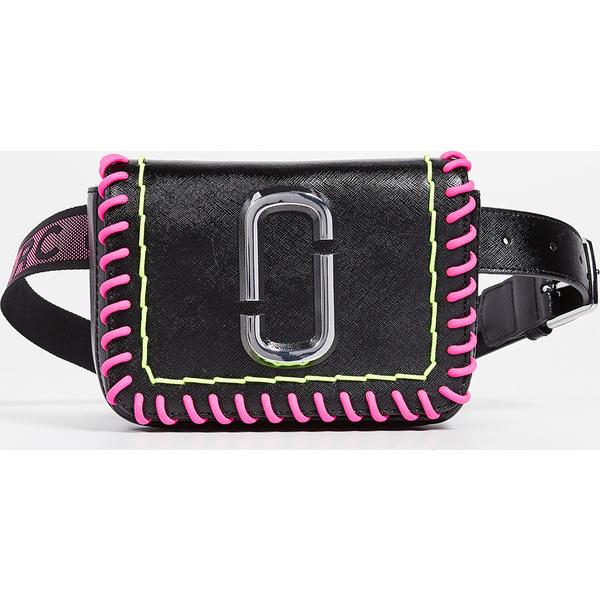 (取寄)マークジェイコブス M/L ヒップ ショット ウィップスティッチ コンバーチブル ベルト バッグ Marc Jacobs M/L Hip Shot Whipstitch Convertible Belt Bag Black