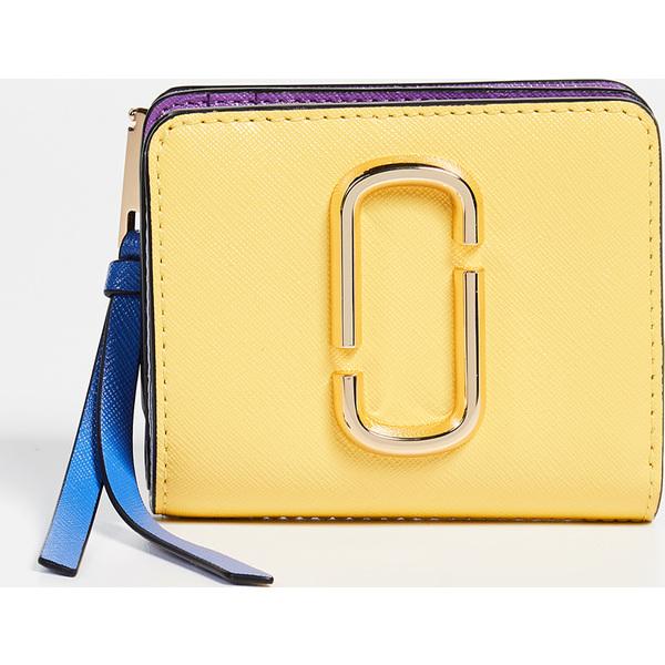 (取寄)マークジェイコブス スナップショット ミニ コンパクト ウォレット Marc Jacobs Snapshot Mini Compact Wallet LemonMulti