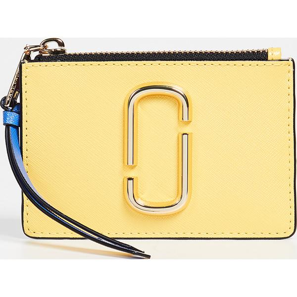(取寄)マークジェイコブス スナップショット トップ ジップ マルチ ウォレット Marc Jacobs Snapshot Top Zip Multi Wallet LemonMulti