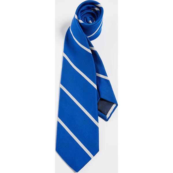 (取寄)ポロ ラルフローレン ストライプド タイ Polo Ralph Lauren Striped Tie Royal White