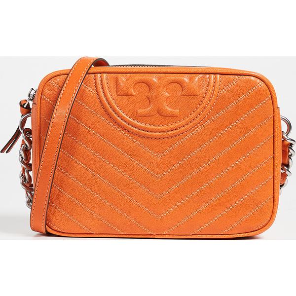 (取寄)トリーバーチ フレミング ディストレス カメラ バッグ Tory Burch Fleming Distressed Camera Bag OrangeJuice