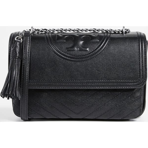 (取寄)トリーバーチ フレミング ディストレス フラップ ショルダー バッグ Tory Burch Fleming Distressed Flap Shoulder Bag Black