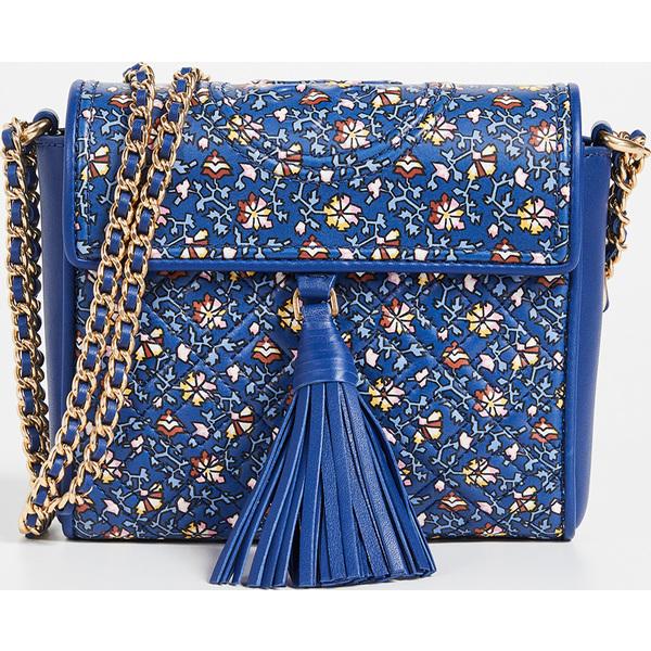 (取寄)トリーバーチ フレミング プリンテッド ボックス クロスボディ バッグ Tory Burch Fleming Printed Box Crossbody Bag BlueWildPansy