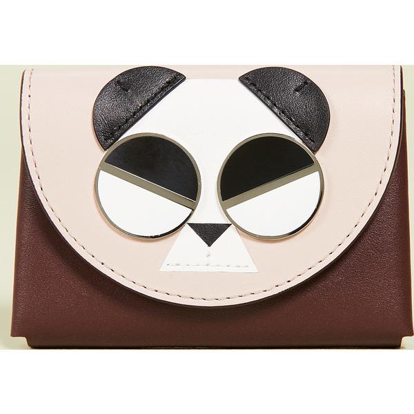 (取寄)ケイトスペード ジェントル パンダ カード ケース Kate Spade New York Gentle Panda Card Case RoastedFig