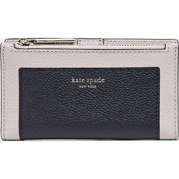 (取寄)ケイトスペード マルゴー スモール スリム バイフォールド ウォレット Kate Spade New York Margaux Small Slim Bifold Wallet Black WarmTaupe