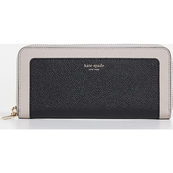 (取寄)ケイトスペード マルゴー スリム コンチネンタル ウォレット Kate Spade New York Margaux Slim Continental Wallet Black WarmTaupe