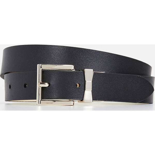 (取寄)ケイトスペード リバーシブル ベルト Kate Spade New York Reversible Belt Black Gold