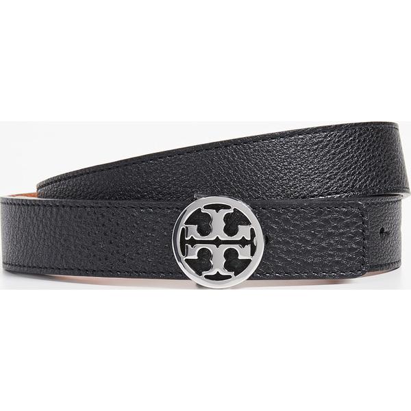 (取寄)トリーバーチ リバーシブル ベルト Tory Burch Reversible Belt Black Silver