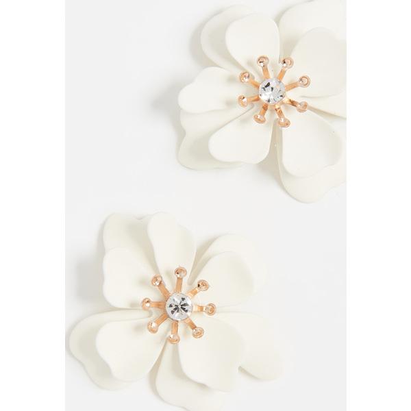 (取寄)シャシ ブルーム ピアス Shashi Bloom Earrings White