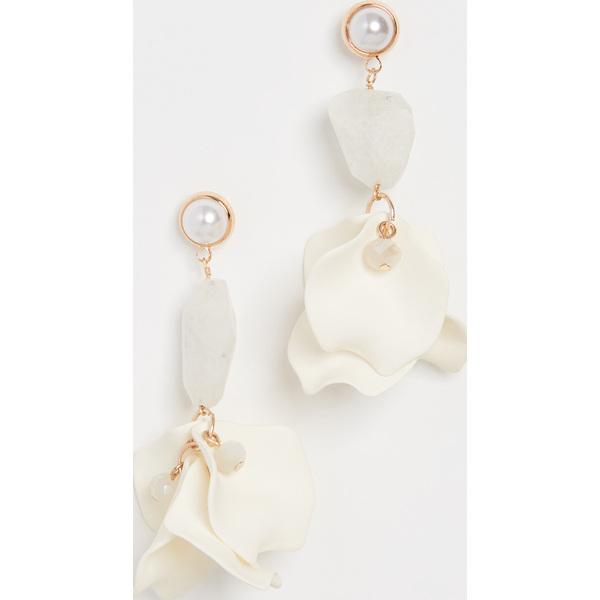 【クーポンで最大2000円OFF】(取寄)シャシ オーキッド ピアス Shashi Orchid Earrings White