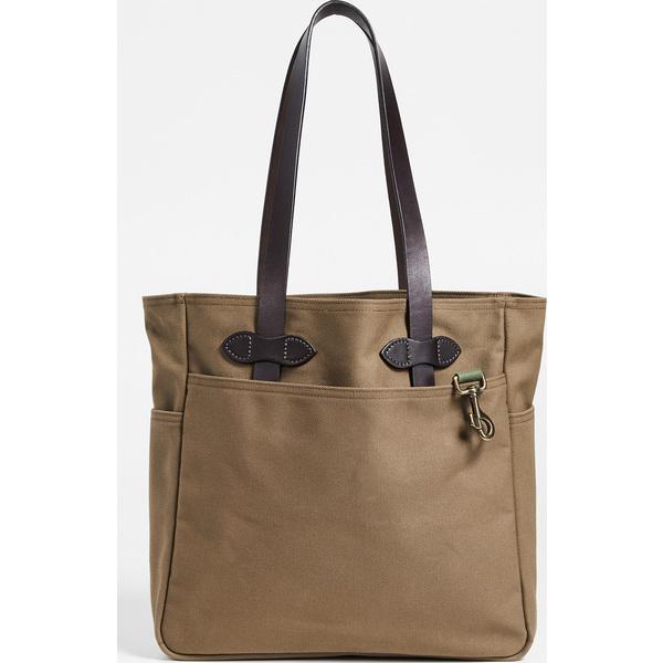 【エントリーでポイント5倍】(取寄)フィルソン トート バッグ ウィズアウト ジッパー FILSON Tote Bag without Zipper Sepia