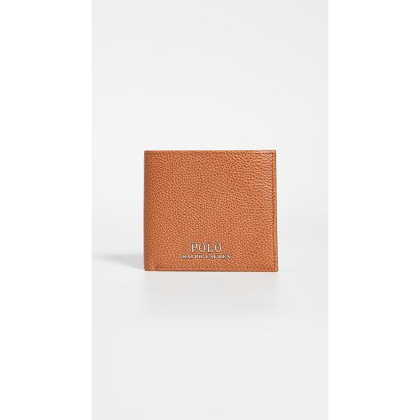 (取寄)ポロ ラルフローレン テーラード ペブル レザー バイフォールド ウォレット Polo Ralph Lauren Tailored Pebble Leather Bifold Wallet Brown