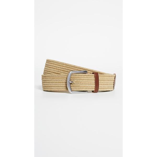 【エントリーでポイント5倍】(取寄)ポロ ラルフローレン 35mm ブレイド ストレッチ ベルト Polo Ralph Lauren 35mm Braid Stretch Belt Brown
