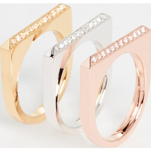【エントリーでポイント5倍】(取寄)ケイトスペード パヴェ リング セット Kate Spade New York Pave Ring Set MetalMulti