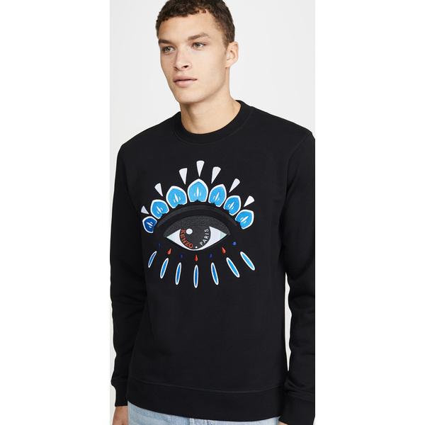 (取寄)ケンゾー クラシック アイ エンブロイダー スウェットシャツ KENZO Classic Eye Embroidered Sweatshirt Black