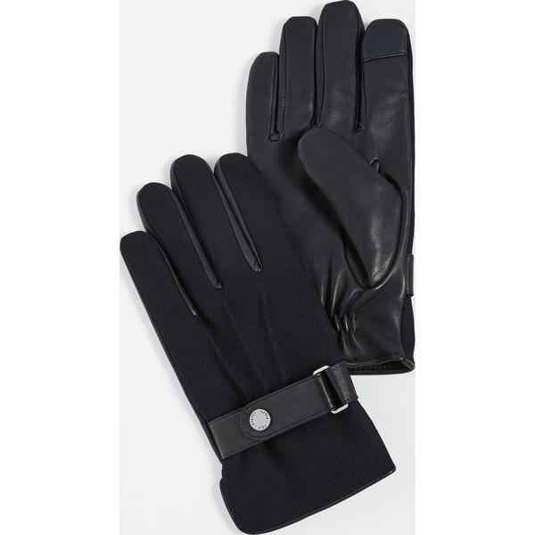 【エントリーでポイント5倍】(取寄)ポロ ラルフローレン ウール メルトン ハイブリット グローブ Polo Ralph Lauren Wool Melton Hybrid Gloves Black