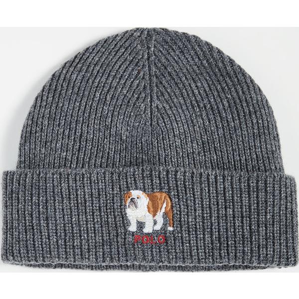 (取寄)ポロ ラルフローレン ブルドッグ カフ ハット Polo Ralph Lauren Bulldog Cuff Hat Charcoal