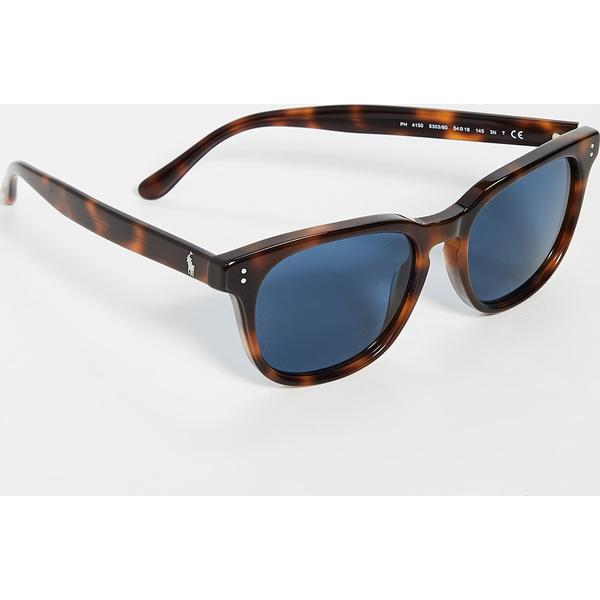 【クーポンで最大2000円OFF】(取寄)ポロ ラルフローレン スクエア サングラス Polo Ralph Lauren Square Sunglasses Tortoise Blue