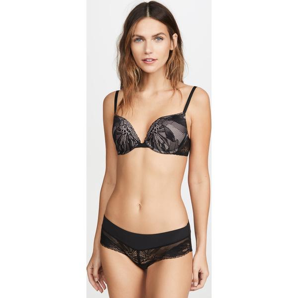 (取寄)カルバンクライン アンダーウェア レディース ペタル レース ブラ Calvin Klein Underwear Women's Petal Lace Bra Black Nude