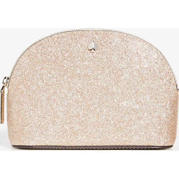 (取寄)ケイトスペード バージェス コート スモール ドーム コスメティック バッグ Kate Spade New York Burgess Court Small Dome Cosmetic Bag PaleGold