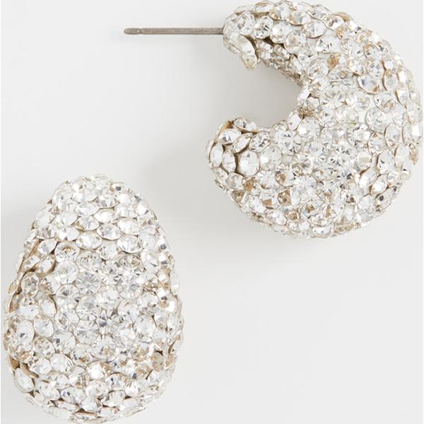 (取寄)ケイトスペード クレー パヴェ ハギー ピアス Kate Spade New York Clay Pave Huggie Earrings Clear