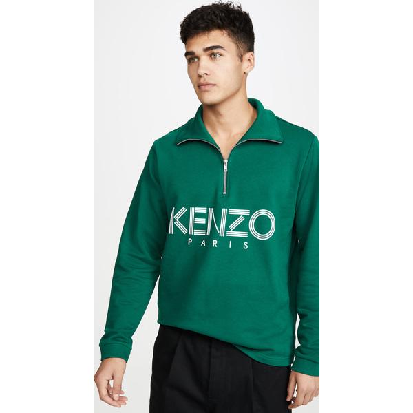 (取寄)ケンゾー ケンゾー スポーツ ハーフ ジップ スウェットシャツ KENZO Kenzo Sport Half Zip Sweatshirt Green