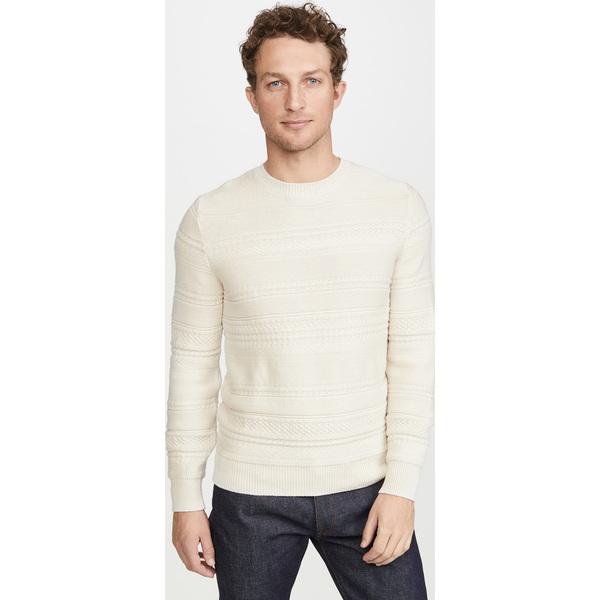 (取寄)アーペーセー ニコラス プルオーバー ストライプド セーター A.P.C. Nicolas Pullover Striped Sweater Ecru