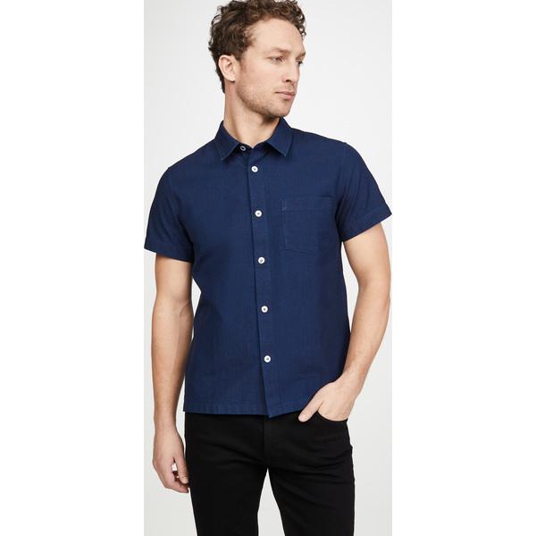 (取寄)アーペーセー チッピ ショット スリーブ シャツ A.P.C. Cippi Short Sleeve Shirt Indigo