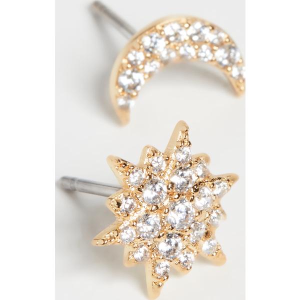 (取寄)ケイトスペード アシンメトリカル スタッズ Kate Spade New York Asymmetrical Studs Clear Gold