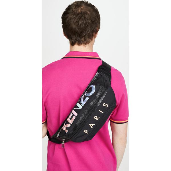 (取寄)ケンゾー スポーツ ロゴ バムバッグ KENZO Sport Logo Bumbag Black
