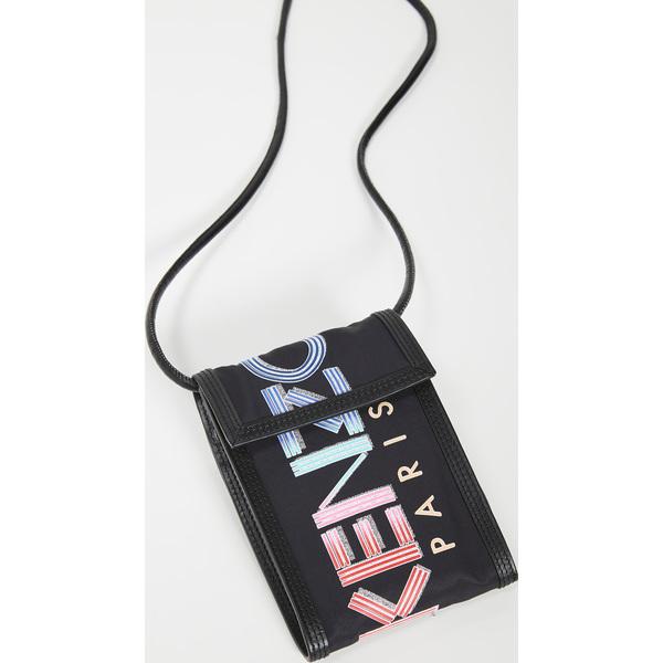 (取寄)ケンゾー フォン ホルダー オン ストラップ KENZO Phone Holder on Strap Black