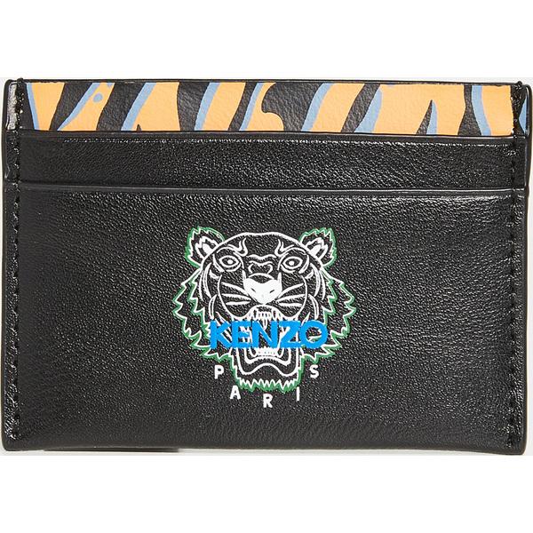 【エントリーでポイント5倍】(取寄)ケンゾー タイガー プリント カードホルダー KENZO Tiger Print Cardholder Black