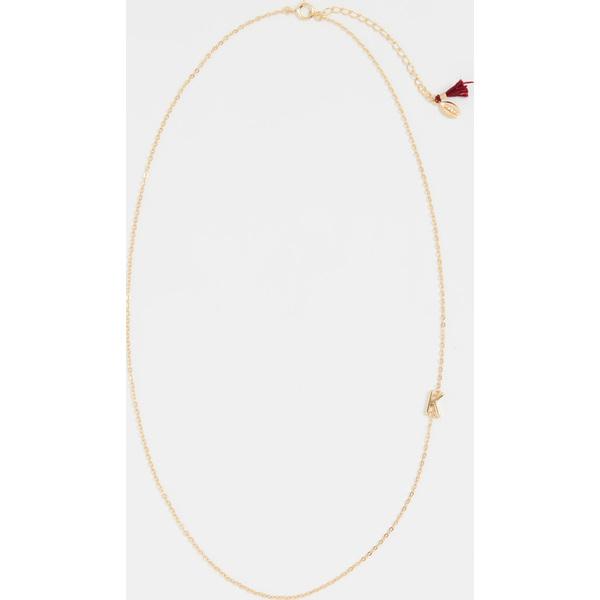 (取寄)シャシ レター イン チェイン ネックレス Shashi Letter in Chain Necklace K