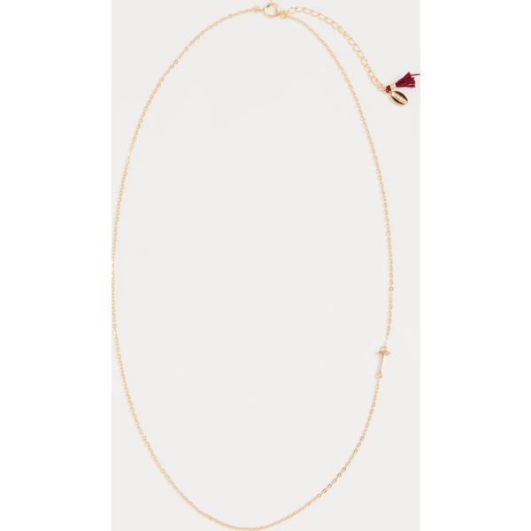 (取寄)シャシ レター イン チェイン ネックレス Shashi Letter in Chain Necklace T
