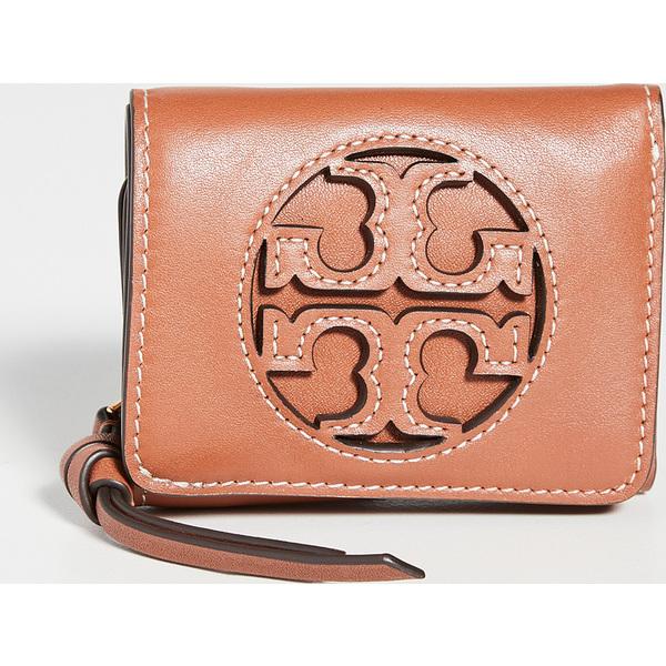 (取寄)トリーバーチ ミラー トリフォールド ミクロ ウォレット Tory Burch Miller Tri-Fold Micro Wallet AgedCamello