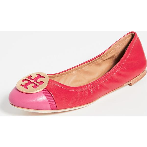 (取寄)トリーバーチ レディース ミニー キャップ トゥ バレエ フラッツ Tory Burch Women's Minnie Cap Toe Ballet Flats BrilliantRed BrightAzalea