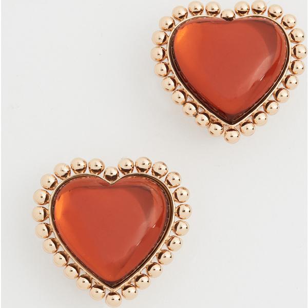 【エントリーでポイント5倍】(取寄)トリーバーチ ハート スタッズ ピアス Tory Burch Heart Stud Earrings ToryGold SmokyTopaz