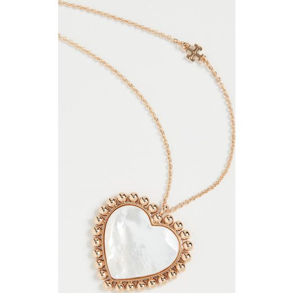 【クーポンで最大2000円OFF】(取寄)トリーバーチ ハート ペンダント ネックレス Tory Burch Heart Pendant Necklace ToryGold MotherofPearl