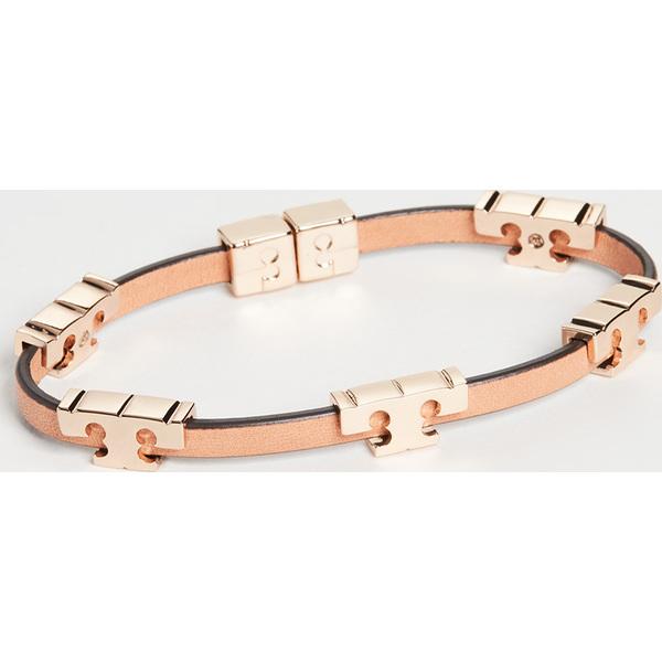 【クーポンで最大2000円OFF】(取寄)トリーバーチ セリフ T ラップ ブレスレット Tory Burch Serif T Wrap Bracelet ToryGold Coconut Vachetta