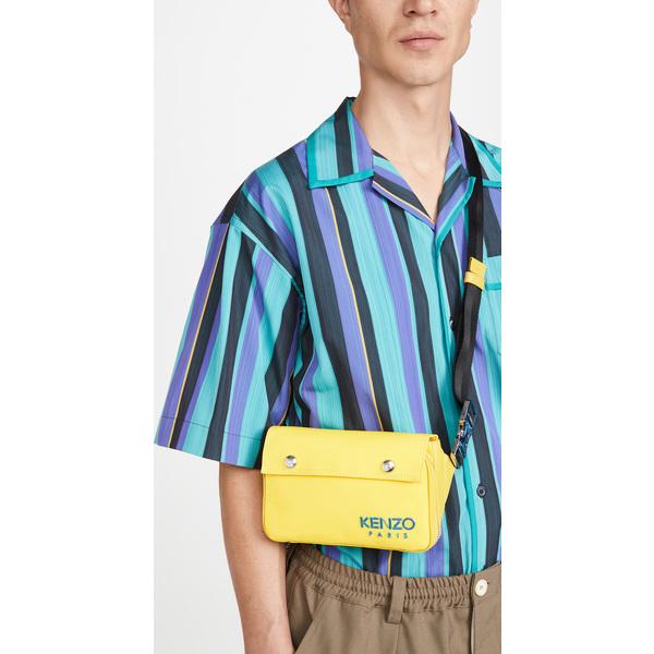 (取寄)ケンゾー フラッツ クロスボディ バッグ KENZO Flat Crossbody Bag Lemon