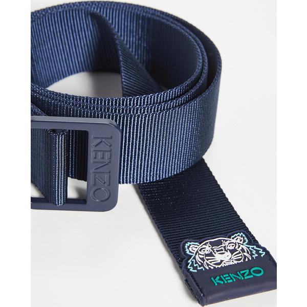 【エントリーでポイント5倍】(取寄)ケンゾー タイガー ウェビング ベルト KENZO Tiger Webbing Belt MidnightBlue