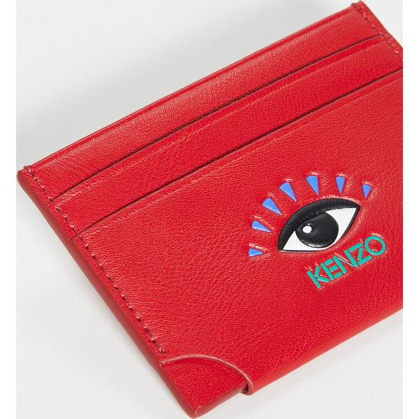 (取寄)ケンゾー スムース レザー カードホルダー KENZO Smooth Leather Cardholder Cherry