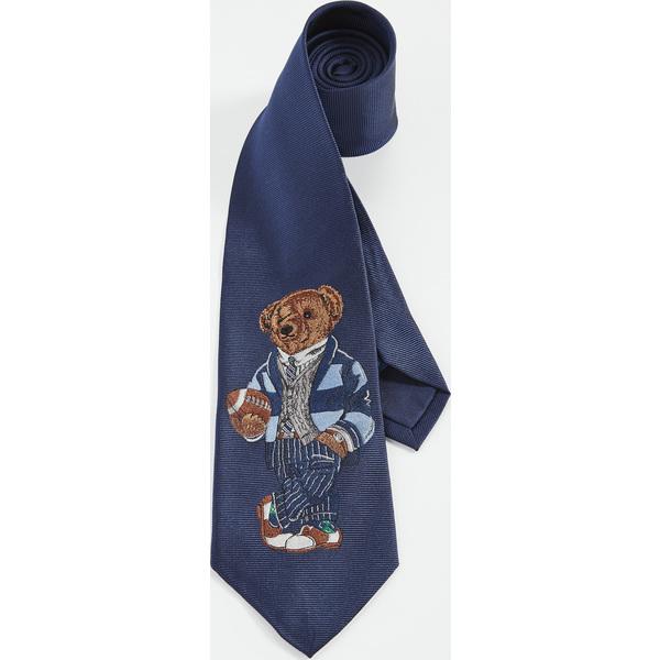 【エントリーでポイント5倍】(取寄)ポロ ラルフローレン グレイズ ホール ベアー タイ Polo Ralph Lauren Greys Hall Bear Tie Navy