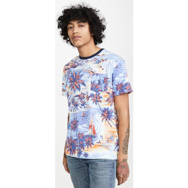 (取寄)ポロ ラルフローレン ショット スリーブ プリンテッド Tシャツ Polo Ralph Lauren Short Sleeve Printed T-Shirt BlueHawaiianBeach