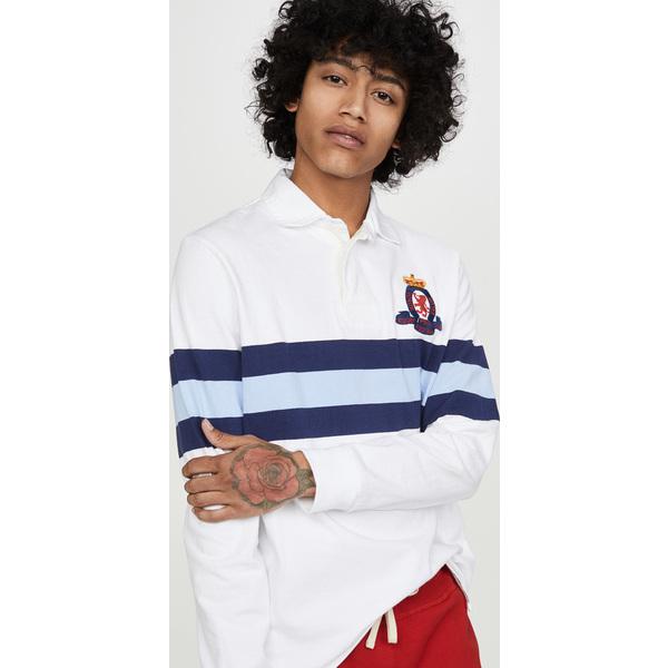 (取寄)ポロ ラルフローレン ロング スリーブ ラグビー シャツ Polo Ralph Lauren Long Sleeve Rugby Shirt WhiteMulti