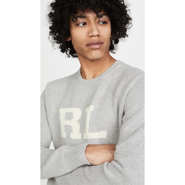 (取寄)ポロ ラルフローレン ロング スリーブ シェイカー セーター Polo Ralph Lauren Long Sleeve Shaker Sweater GreyHeather